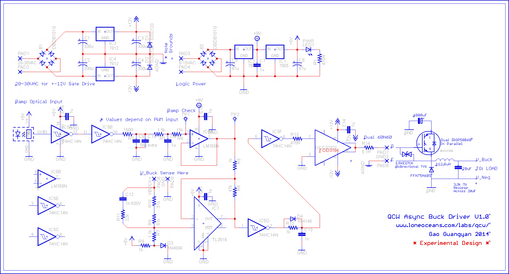 Qcw Tesla Coil Picture Of Best Schematic For A Solid State Universal Driver 27 Drsstc And My Buck Controller V10