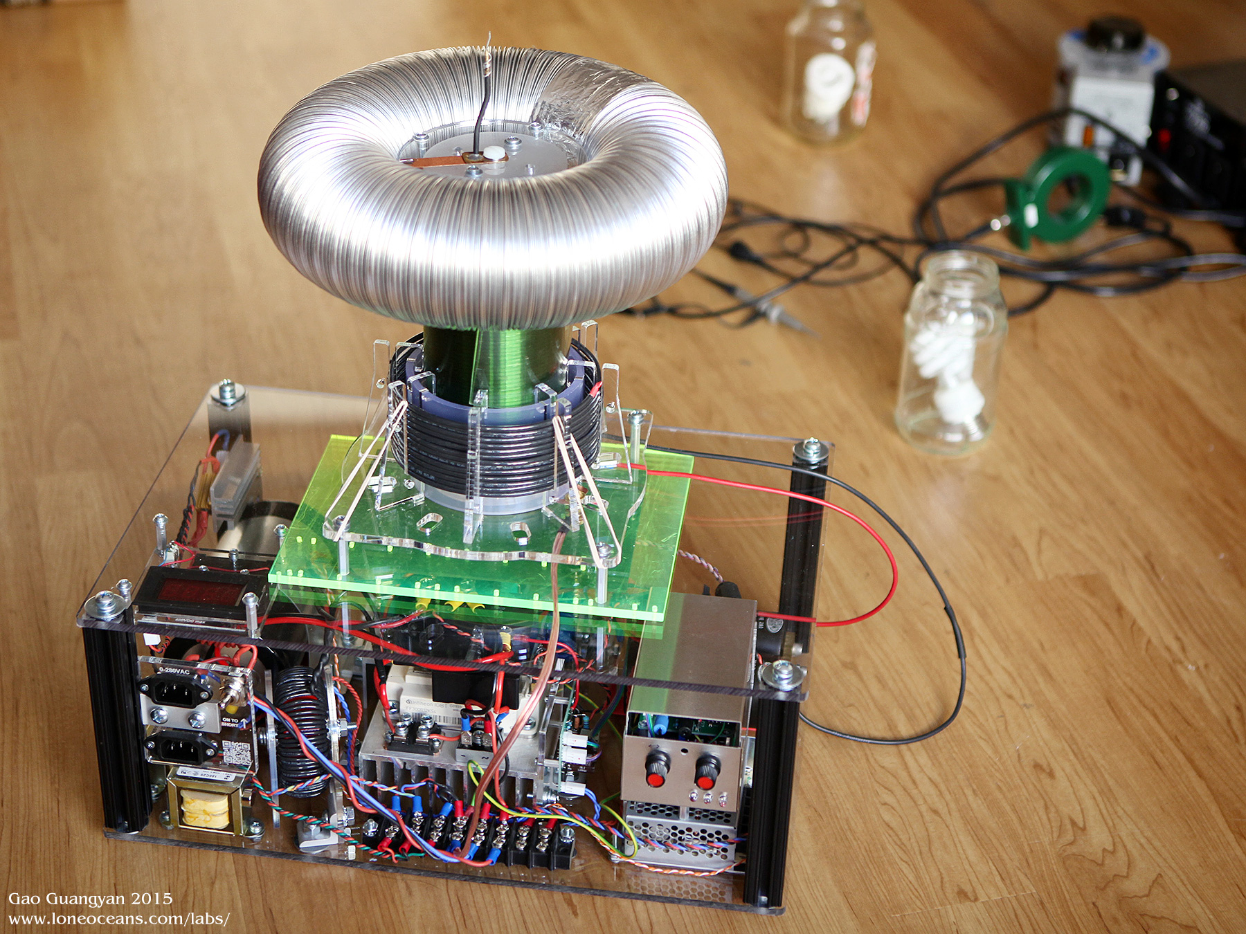 Qcw Tesla Coil V15 Transformer Driver On Induction Heater Schematic Diagram A Box For The