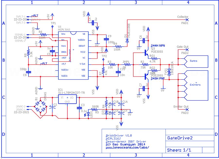 Sales - BrickDriver: Opto-isolated Discrete Gate Driver
