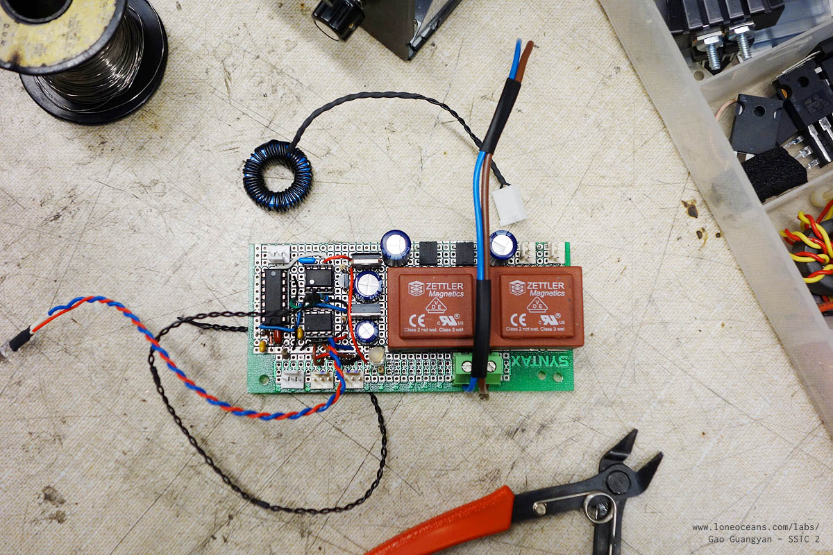 How To Build A Solid State Tesla Coil Sstc 2 By Loneoceans Labs Attiny Candle Electronicslab Note The Two Leds One Is Directly Soldered On Board And Serves As Power Indicator Led Second Connected Output Of Attiny85