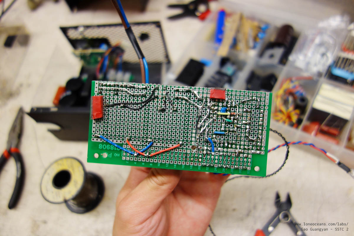 How To Build A Solid State Tesla Coil Sstc 2 By Loneoceans Labs Zvs Capacitor Charger Circuit Flickr Photo Sharing Note The Two Leds One Is Directly Soldered On Board And Serves As Power Indicator Led Second Connected Output Of Attiny85